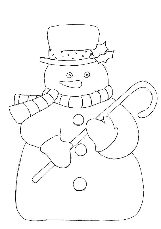 santa and snowman coloring pages - photo#11